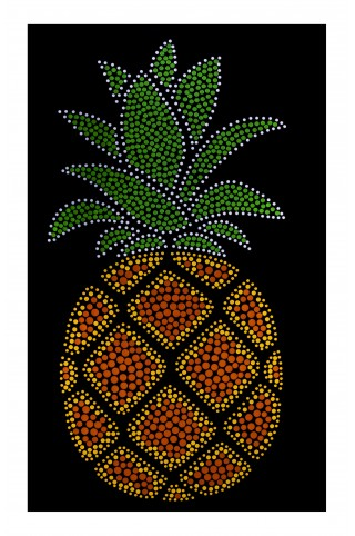 Applique Pineapple 6,7in. x 12,2in for clothes