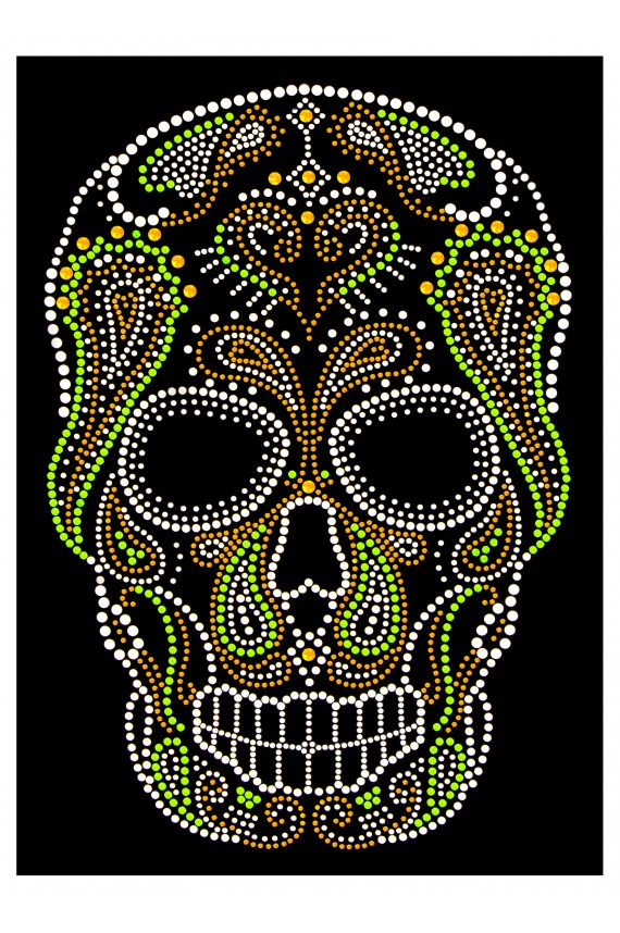 Applique Skull 8,2in. x 11,8in for clothes