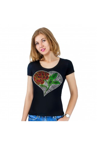 T-shirt with applique Heart
