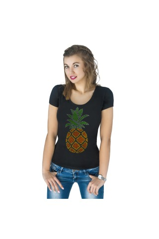 T-shirt with applique Pineapple