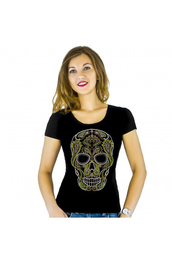 T-shirt with applique Skull